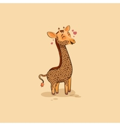 Emoji character cartoon Giraffe in love vector image
