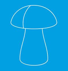 Fungus boletus icon outline style vector