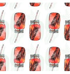 hand drawn abstract summer time organic vector image vector image