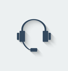 Headphone design element vector