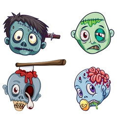 Heads of the zombies vector