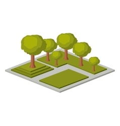 Isolated isometric tree design vector