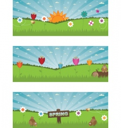 landscape banners vector image vector image