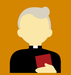 Old religious pastor people graphic background vector