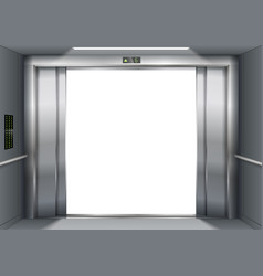 open the elevator doors vector image