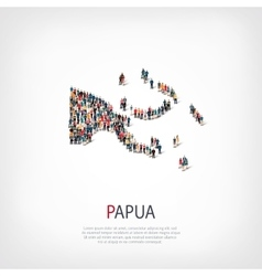 People map country papua new guinea vector