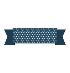 Ribbon usa stars blue vector
