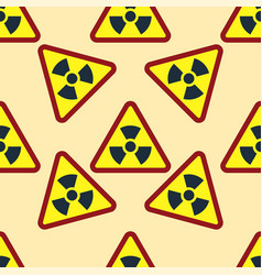 Seamless pattern background nuclear power sign vector
