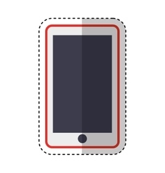 smartphone technology line icon vector image vector image