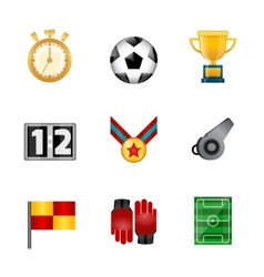 Soccer realistic icons vector image vector image
