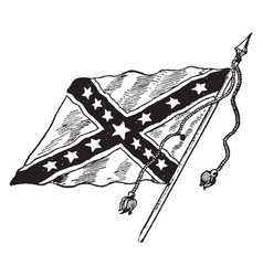 The confederate battle flag vintage vector