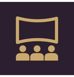 The movie house icon theater and show cinema vector