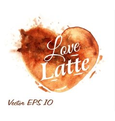 Traces Coffee Heart Latte vector image vector image