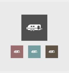 trailer icon simple vector image vector image