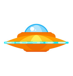 ufo ship icon for web vector image