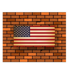 United Stated flag vector image
