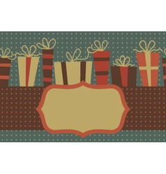 Vintage gift frame vector image vector image