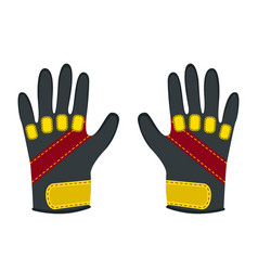 Winter gloves for extreme sports - snowboard vector