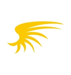 Yellow birds wing icon flat style vector image