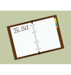 Personal diary vector