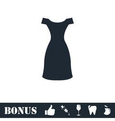 Dress icon flat vector