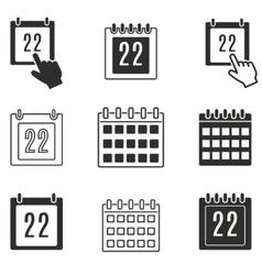 Calendar icon set vector