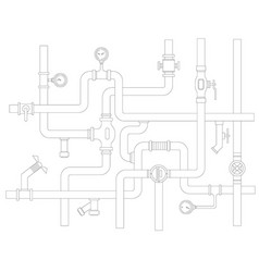 Stock ware pipes system concept flat vector