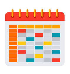 School timetable icon vector