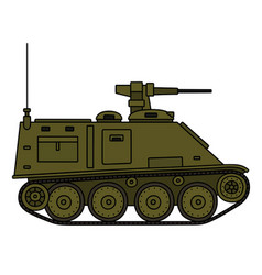 Small tracked armored vehicle vector