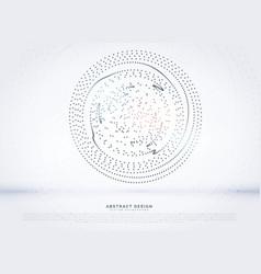 Circular dots mesh background vector