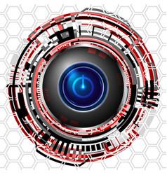 Cyber digital power icon vector