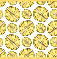 Lemon seamless pattern hand drawn background for vector