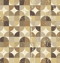 Vintage squared seamless pattern rhombic abstract vector
