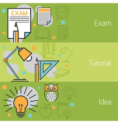 Exam tutorial idea banner vector