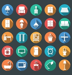 Furniture and lighting icon set vector