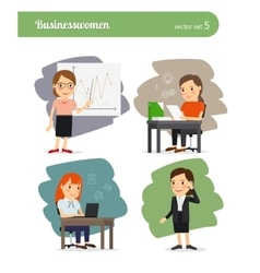 Cartoon businesswoman vector image
