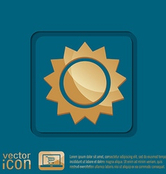 Weather icon sun vector