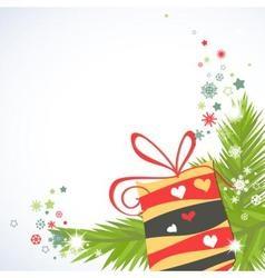 Christmas gifts corner decoration vector image