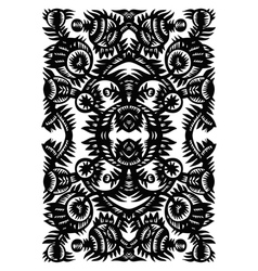 Vertical decorative pattern with flowers on a whit vector