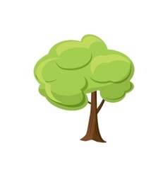 Green tree icon cartoon style vector