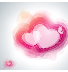 Abstract pink hearts vector