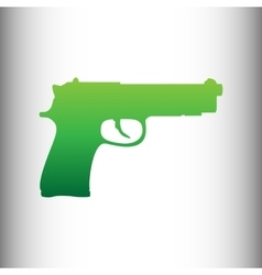 Gun sign green gradient icon vector