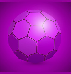 abstract soccer 3d ball purple vector image vector image
