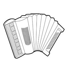 Accordion icon outline isometric style vector image vector image