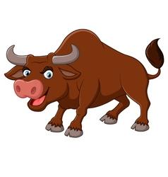 Angry bull cartoon vector image