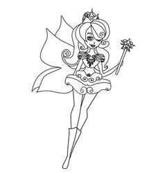 beautiful fairy vector image