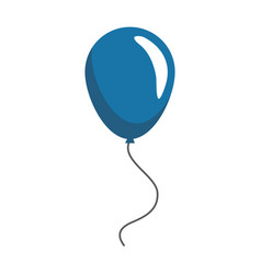 Blue balloon decoration celebration party image vector