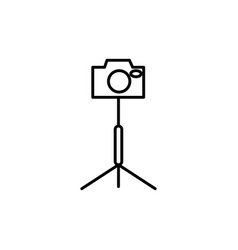 camera stand icon vector image
