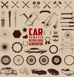 Car service logo generator vector