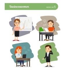 Cartoon businesswoman vector image vector image